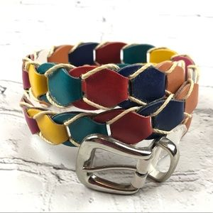 Accessories - Multicolored Ladder Leather Belt